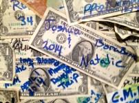 Bloody Mary's money wall