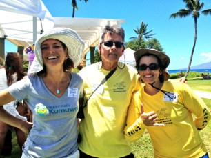 ACTIVISTS for reef preservation, and her team. ion, with some of her team.