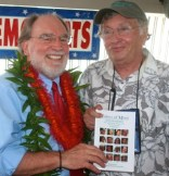 Governor elect with original version of Voices of Maui