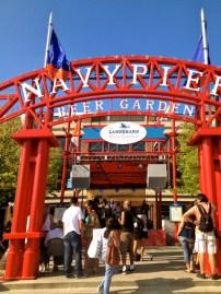 Entrance to beer garden