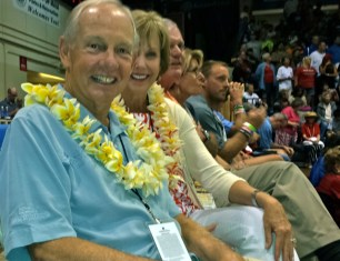 Dave Odom, tournament director and wife