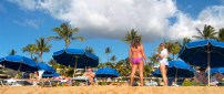On the beach in Kaanapali