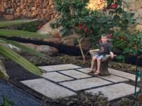 In a secret garden