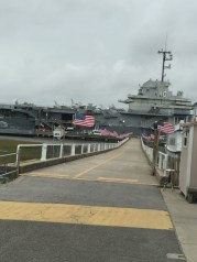 Aircraft Carrier - flag lined path
