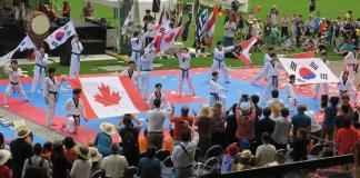 BC 한인문화의 날 2017, 국기원 태권도 시범.