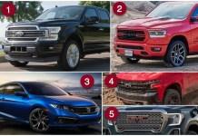 캐나다에서 가장 많이 팔린 차
