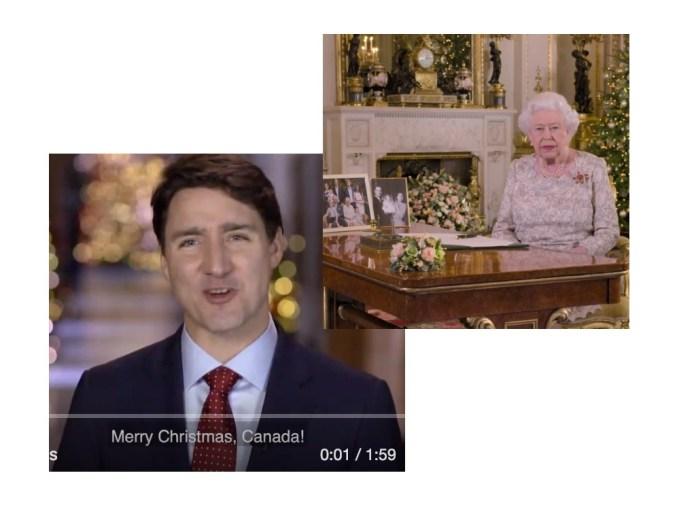 캐나다 총리와 여왕, 크리스마스 축하메시지