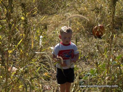 boy in field