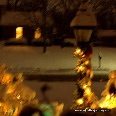 Christmas lamp post