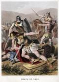 King Saul falling on his sword
