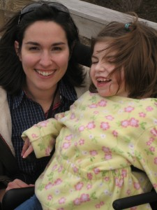 Elli and Joy in March 2008