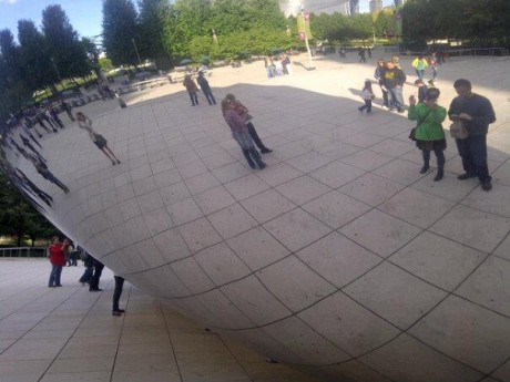 Us at Chicago's Cloud Gate (aka The Bean)