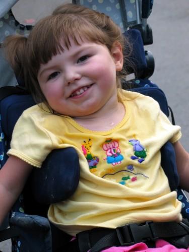 Ellie in her Kid Kart