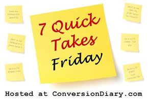 7 Friday quick takes