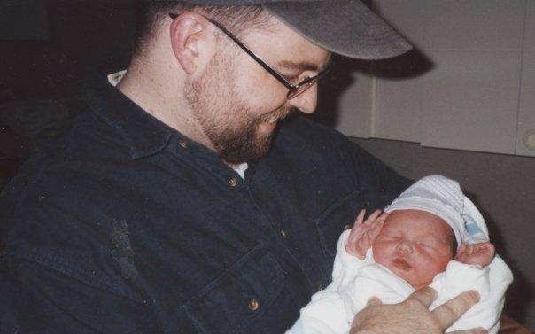 Scott and newborn Elli