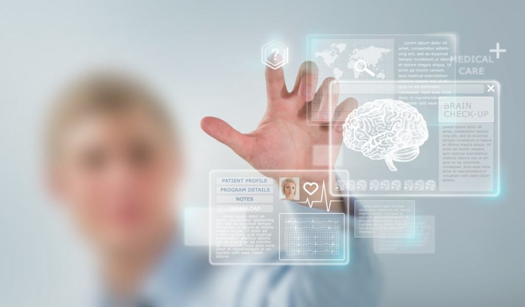 high tech image of future medicine