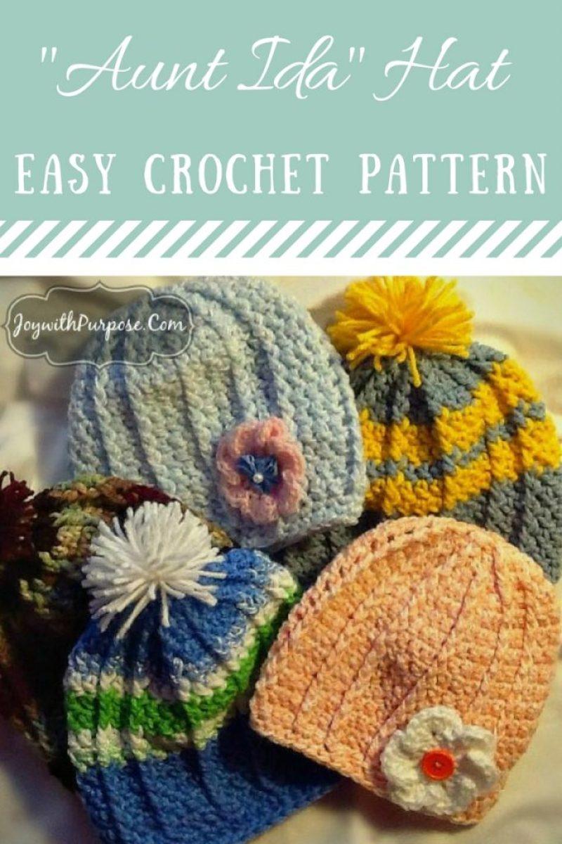 The Aunt Ida Hat crocheted hat pattern