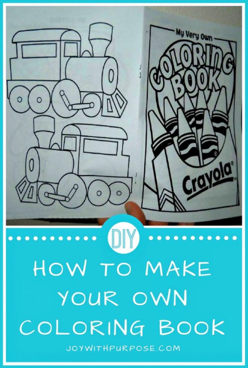 You Can Make Your Own Coloring Book Joy with PURPOSE