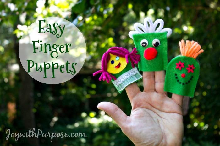 Easy Finger Puppets from Felt