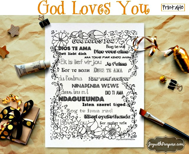 God loves you printable