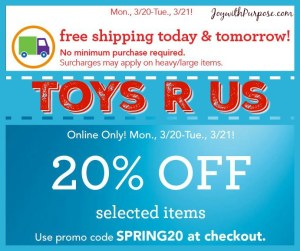 ToysRUs Free Shipping