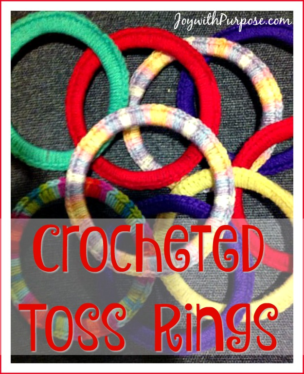 crocheted toss rings