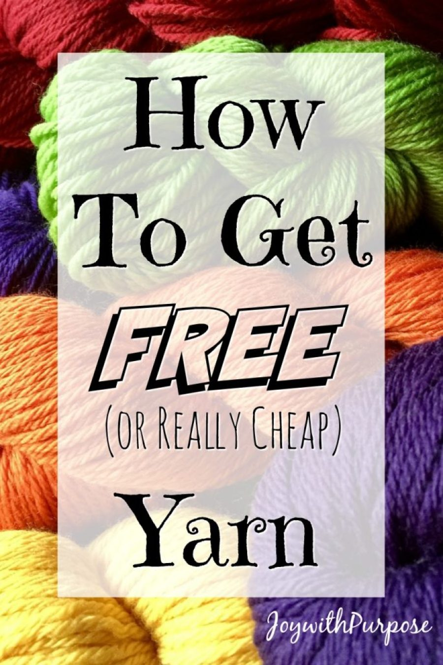 Tips on how to get free yarn