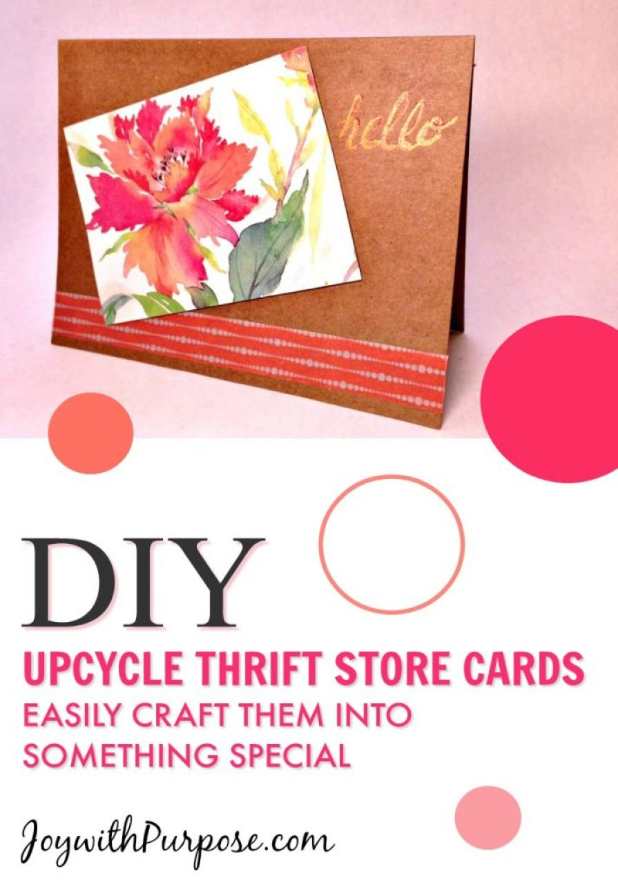 Upcycle Thrift Store Cards and Easily transform them into something special.