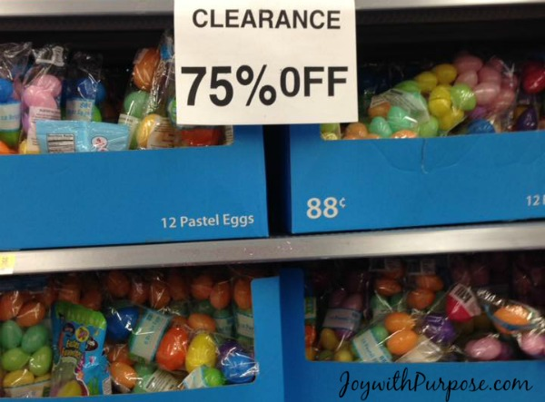 Walmart Easter clearance discount Easter Eggs