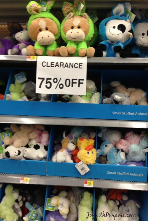walmart easter clearance stuffed animals discount
