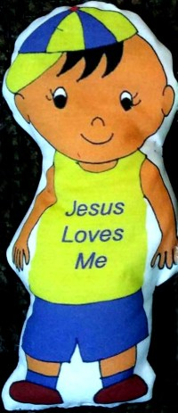 "Easy doll to sew ""Jesus Loves Me"""