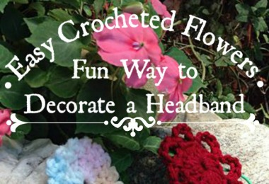 Here is an Easy Crocheted Flowers tutorial