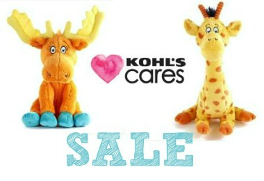 Kohls Cares Stuffed Animals and Books on Sale now
