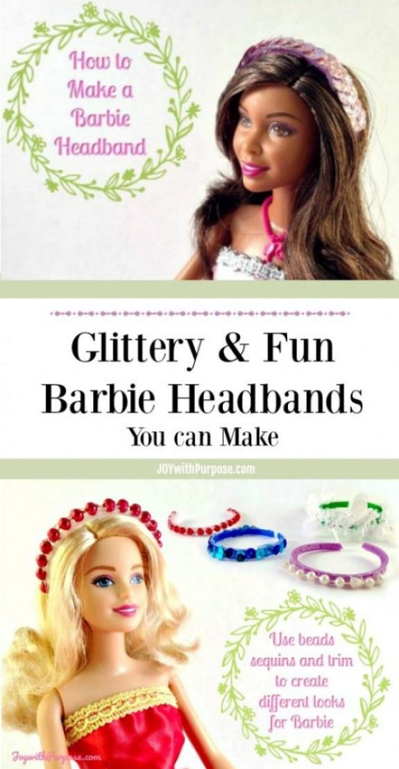 Glittery and Fun You can Make a Barbie Headband
