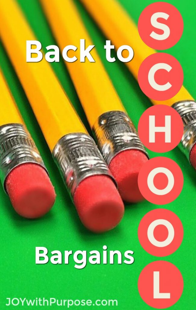 Back to School Bargains this week August 13 2017