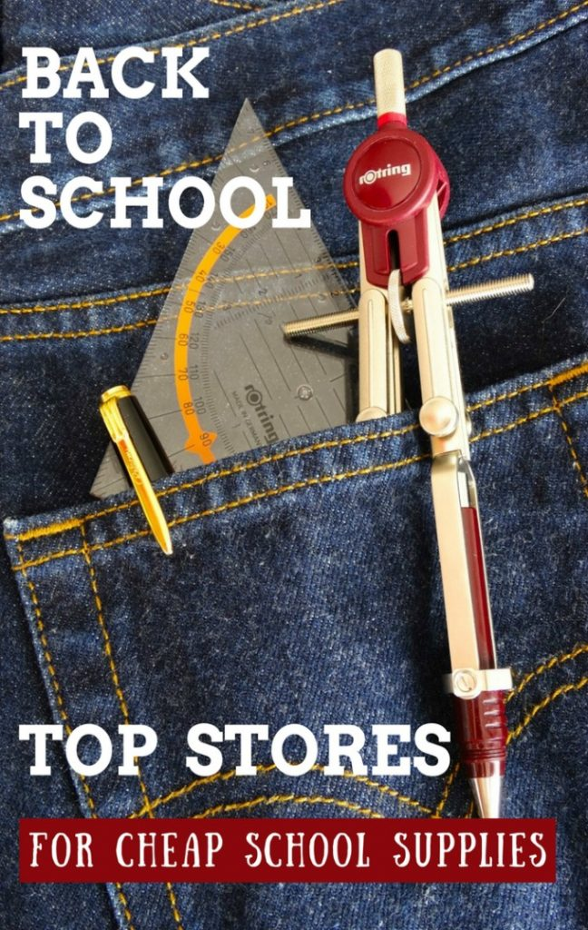 this week's list of top stores to get cheap school supplies August 2017
