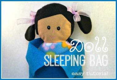 Doll Sleeping Bag from felt here is an easy tutorial