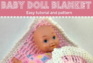Easy Crocheted Baby Doll Blanket Joy With Purpose