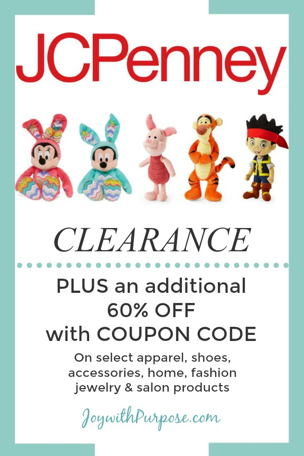 JC Penney clearance coupon deals with online coupon code