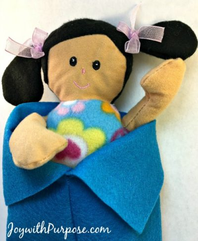 tuck your doll into her Doll Sleeping Bag