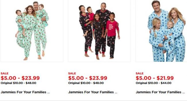 pajama sets at Kohls Black Friday Deals