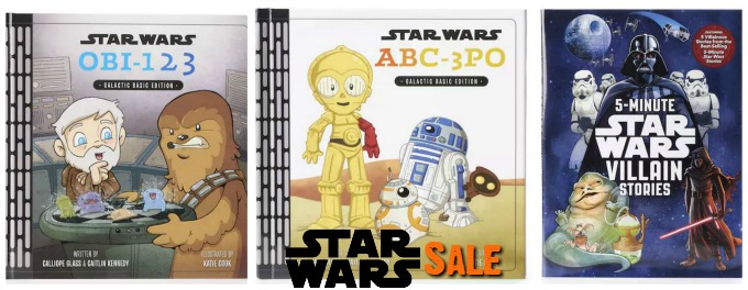 Star Wars Sale at Kohls 3 books on sale