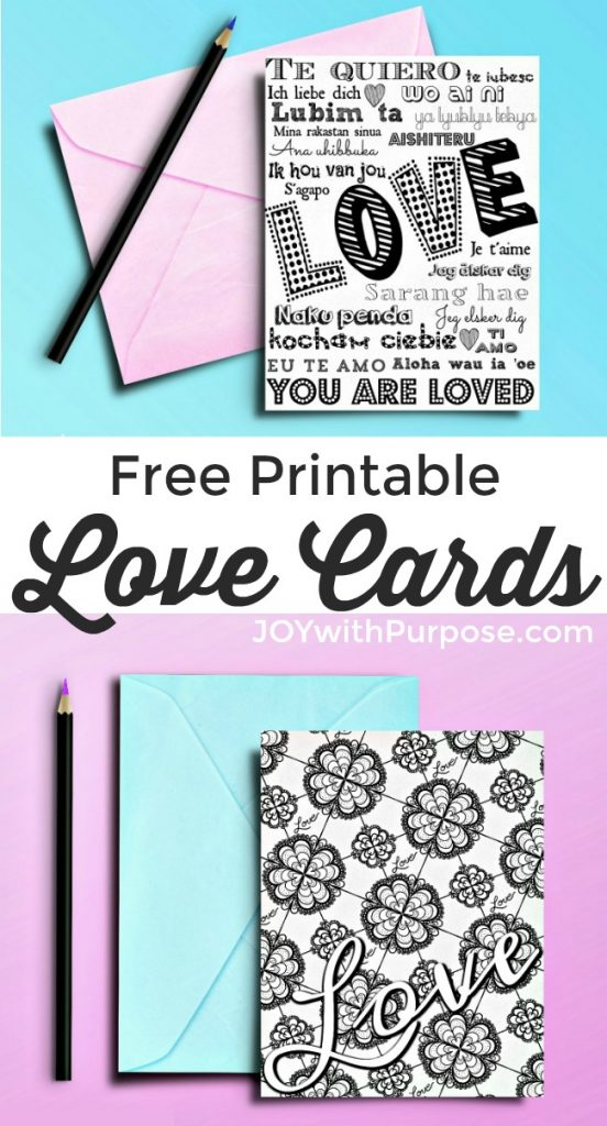 photograph about Free Printable Love Cards named Absolutely free Printable Appreciate Playing cards: Appreciate within 20 Languages - Pleasure with