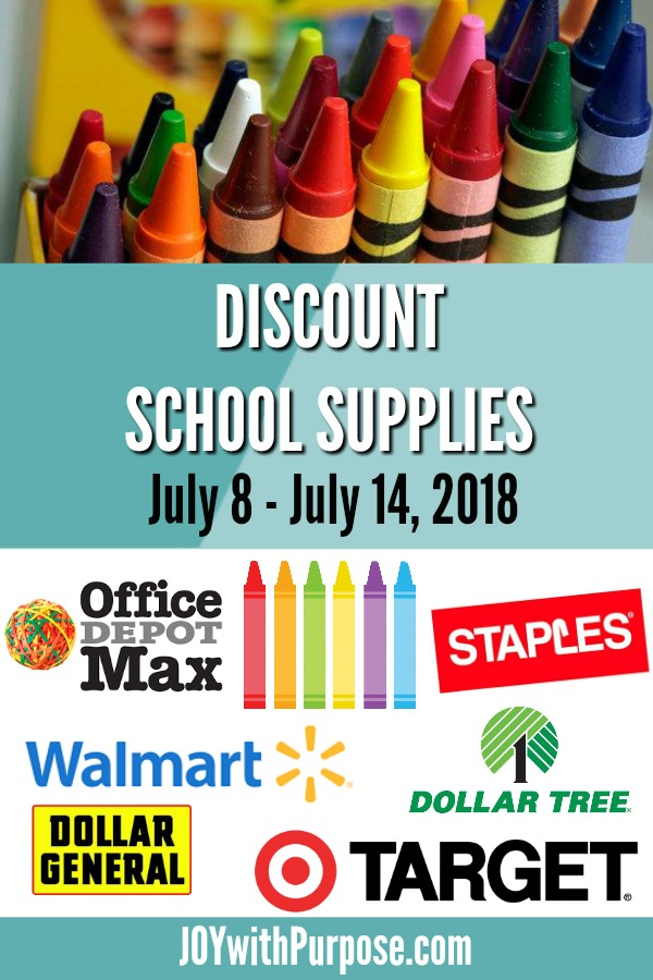 Time to find discount school supplies