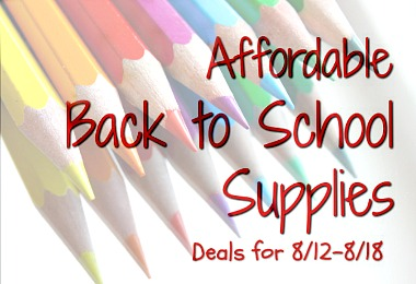 Affordable Back to School Items This Week in August