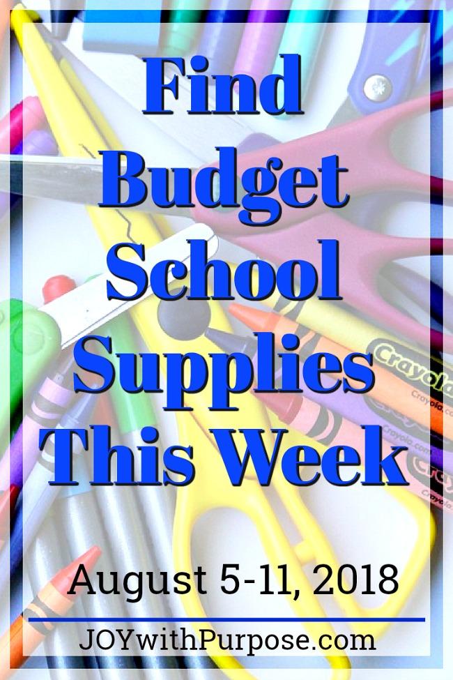 Find Budget School Supplies this week, August 5-11, 2018