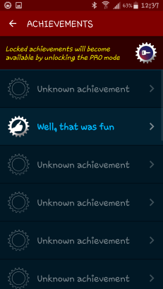 "The ""Achievements"" tab"