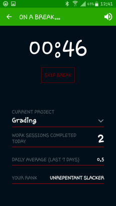 My stats while I'm breaking
