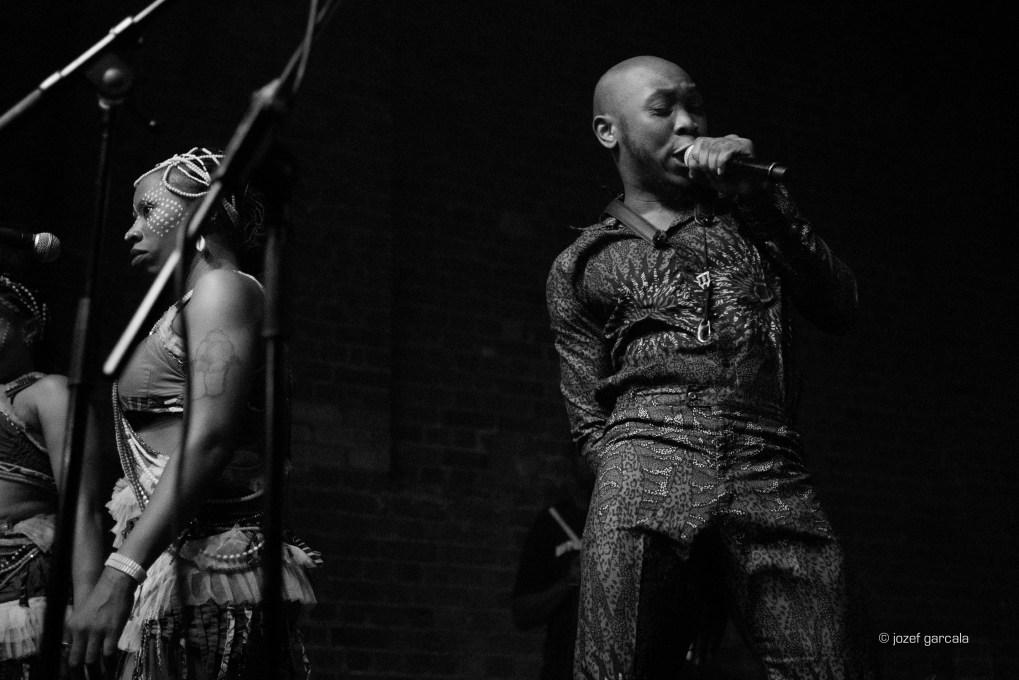 Youngest son of Fela Kuti, Seun Kuti on stage at Village Underground by Jozef Garcala London Music Photographer