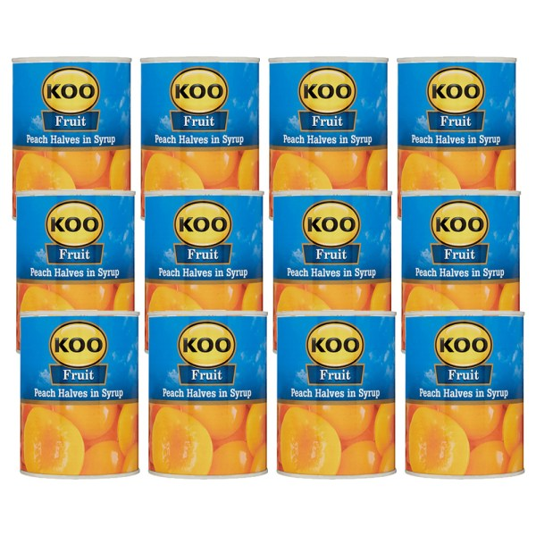 Koo Koo Peach Halves 410g x 12